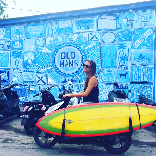 Daisy, surfplank, old man's, canggu, reizen in Bali