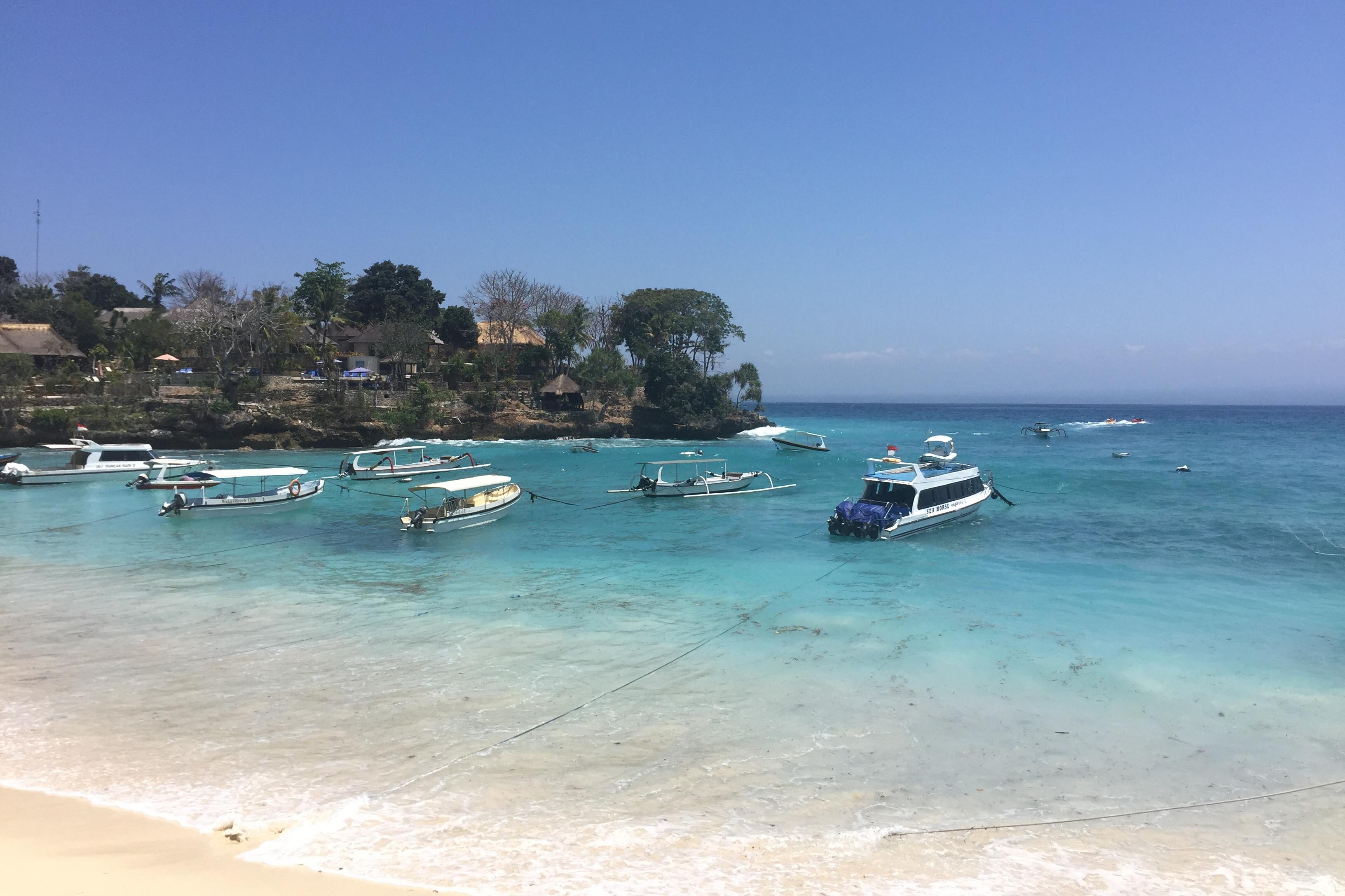 Nusa Lembongan, mushroom bay, visum voor Bali