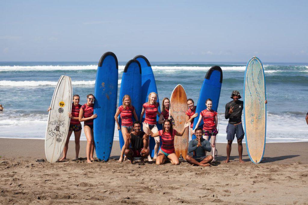 surf spots in Bali voor beginners