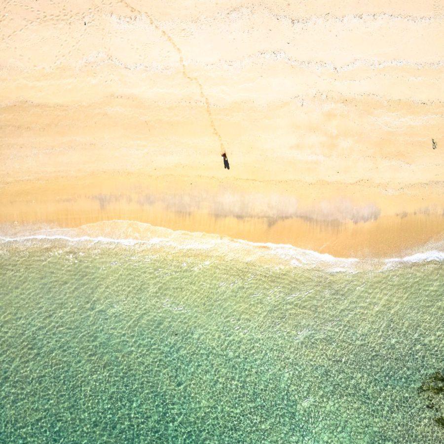 lombok, strand, drone shot