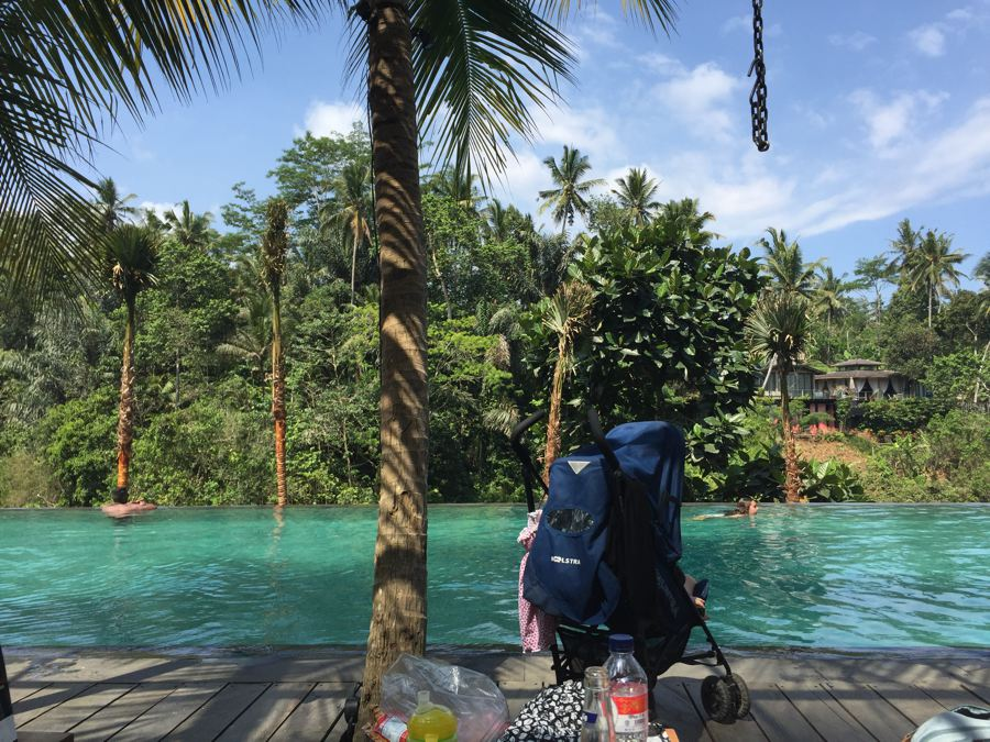inge, bali met kind, jungle fish