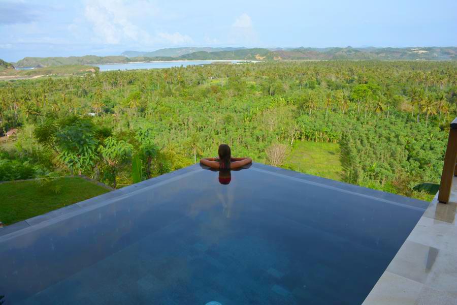 villa sorgas lombok, zwembad