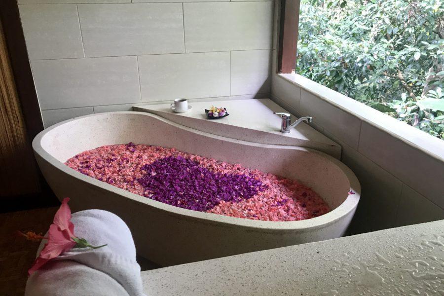 flower bath, bali botanica day spa, ubud bali, activiteiten in ubud