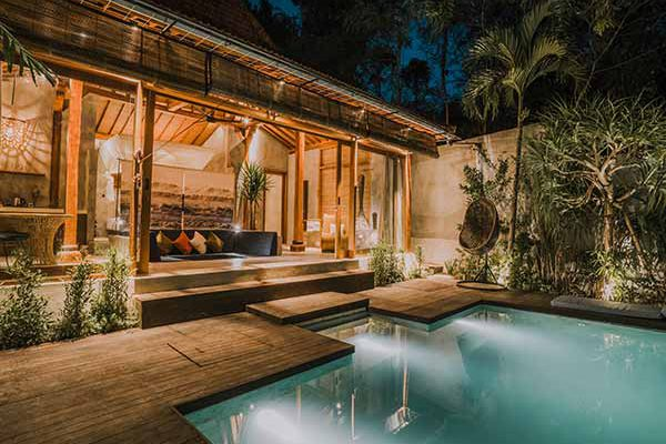 zin hotels private pool villa canggu