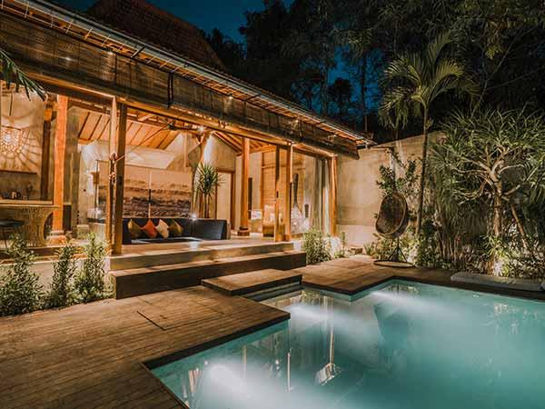 zin hotels private pool villa canggu